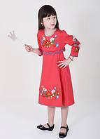 """Платье для девочки """"Цветочная радуга-2"""" - 134 см"""