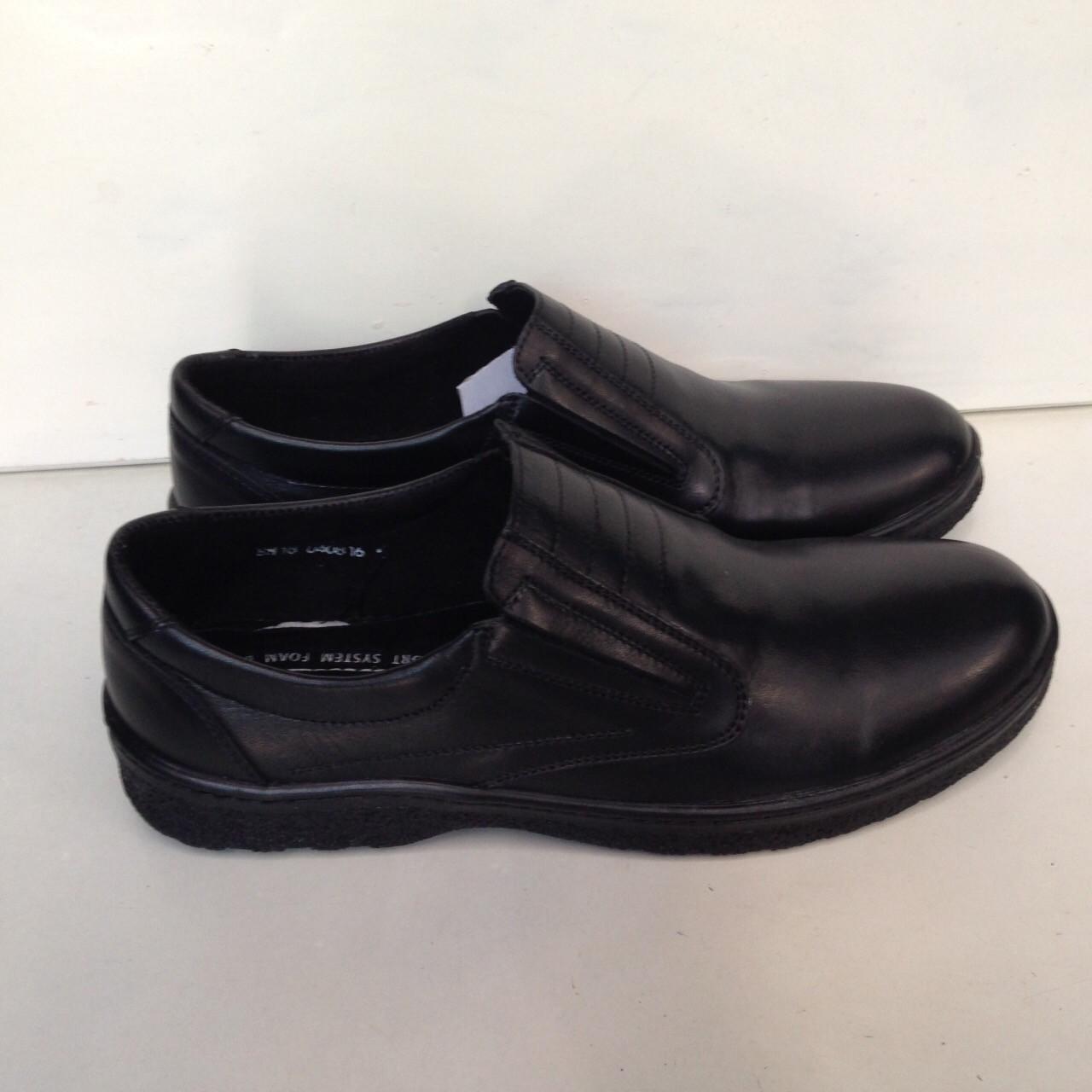 Мужские кожаные туфли очень качественные, прошитые.