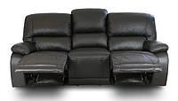 Новый кожаный диван c реклайнером ALASKA (210см)