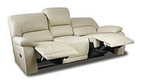 Кожаный диван c реклайнером ALASKA (210см)