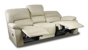 Шкіряний диван з реклайнером ALASKA (210см), фото 2