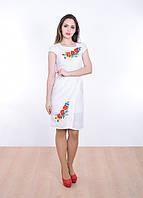 Белоснежное платье машинной вышивки