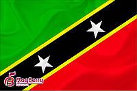 Флаг Сент-Китс и Невис 80*120 см., искуственный шелк