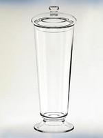 Конфетница с крышкой Н430мм, диам 160мм стекло Бережаны 22017