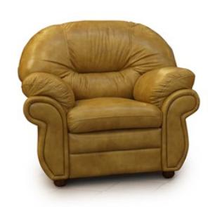 Кожаное кресло для гостиной - Кардинал (115 см)