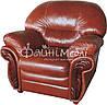 Кожаное кресло для гостиной - Кардинал (115 см), фото 5