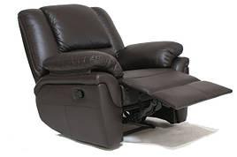 Кожаное кресло реклайнер ALABAMA (98 см)