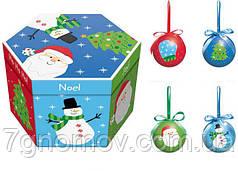 Новогодние игрушки. Набор елочных шаров ANGEL GIFTS HK1016