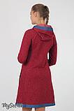 Платье для беременных и кормления Lein DR-36.132 бордовый меланж, размер 44, фото 4