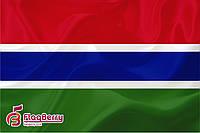 Флаг Гамбии 80*120 см., искуственный шелк