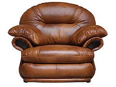 Мягкое кожаное кресло Орландо (124 см)