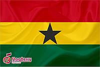 Флаг Ганы 80*120 см.,флажная сетка.,2-х сторонняя печать