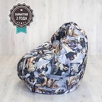 Кресло мешок SanchoBag M 110x80 см Print Cat&Dog