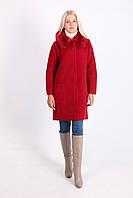 Молодежное пальто бордового цвета