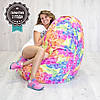 Кресло мешок SanchoBag M 110x80 см Print Blossom (419)