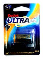 Батарейка литиевая Kodak Ultra CR123A 3V