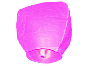 Небесный фонарик купол розовый 105см большой