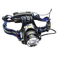 Фонарь налобный Bailong 6699 T6 Фонарик ручной переносной. Прожектор. Led фонарь +батарея в подарок.