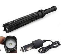 Телескопическая дубинка фонарь R825. Удобная дубинка фонарь для самообороны. Очень мощный.