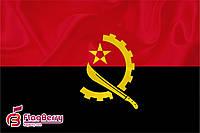Флаг  Анголы 90*135 см., атлас плотный.,1-но сторонняя печать