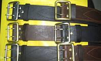Ремни офицерские кожаные коричневого цвета