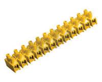 Зажим винтовой ЗВИ-15 н/г 4,0-10мм2 2х12пар ИЭК желтые