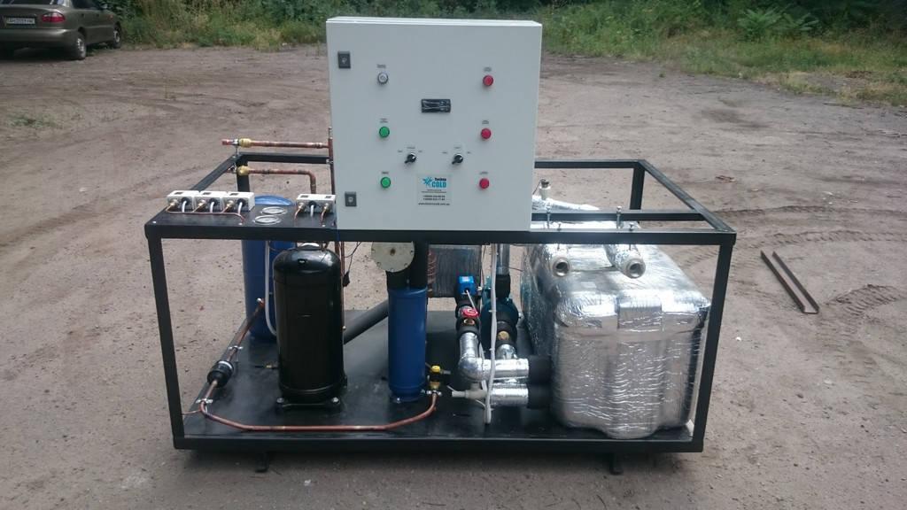 """Чиллер для охлаждения воды мощностью 35 кВт. Заказчик """"НИКОТЕКС"""" г.Николаев. Производство нетканых материалов!"""