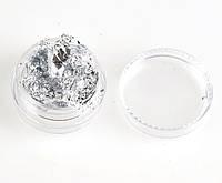 Жатая фольга серебро