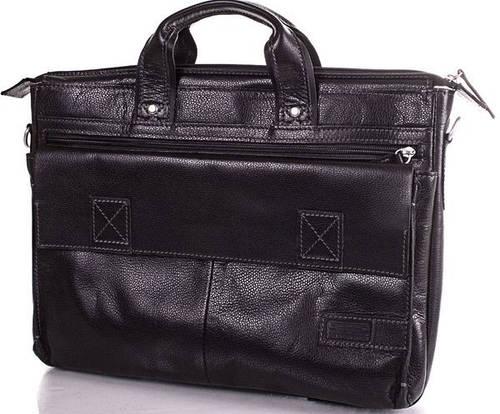 Кожаная современная мужская сумка ETERNO (ЭТЭРНО) ERM515B Черный