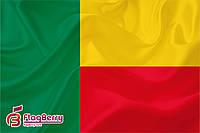Флаг Бенина 80*120 см.,флажная сетка.,2-х сторонняя печать