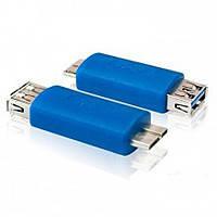 Переходник гнездо USB A - штекер micro USB тип B, v.3.0
