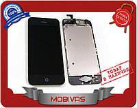 Тачскрин + дисплей на Iphone 5, черный  копия