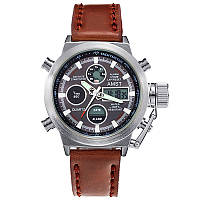 Мужские армейские часы AMST 3003 silver