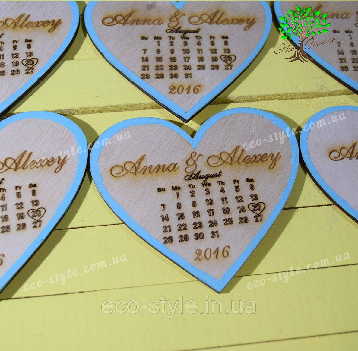 Деревянный магнит свадебный, декор на свадьбу, свадебные календари
