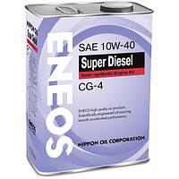 Масло моторное Eneos Super Diesel API CG-4 10W40 / 4л.