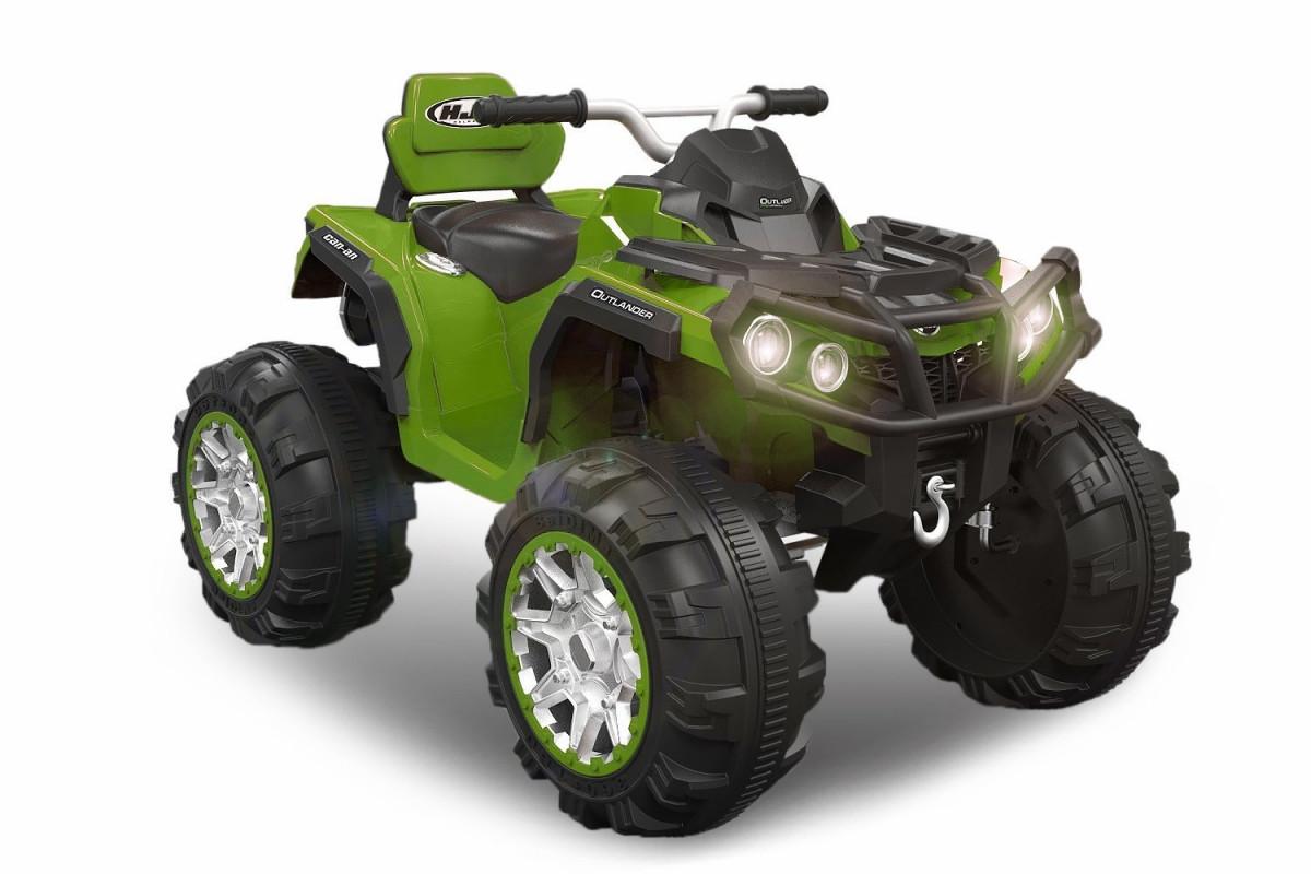 Детский квадроцикл M 3156 EBR зеленый, колеса EVA, MP3, USB, FM и пульт Bluetooth