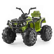 Детский квадроцикл M 3156 EBR зеленый, колеса EVA, MP3, USB, FM и пульт Bluetooth, фото 2