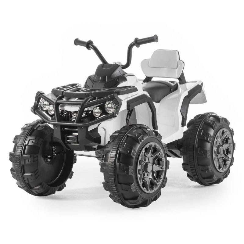 Детский квадроцикл M 3156 EBR белый, колеса EVA, MP3, USB, FM и пульт Bluetooth