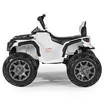 Детский квадроцикл M 3156 EBR белый, колеса EVA, MP3, USB, FM и пульт Bluetooth, фото 3