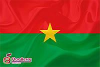 Флаг Буркина-Фасо 80*120 см.,флажная сетка.,2-х сторонняя печать