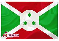 Флаг Бурунди 90*135 см., атлас плотный.,1-но сторонняя печать