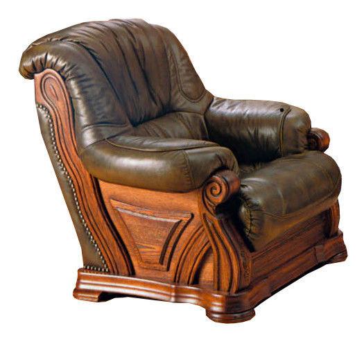 """Кожаное кресло - """"Виконт 5030"""" (102 см)"""