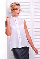 Офисная белая блузка - рубашка  Шейла 42-50 размеры