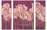 """Схема для частичной вышивки бисером """"Нежные тюльпаны"""", триптих 411"""