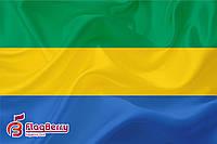 Флаг Габона 80*120 см.,флажная сетка.,2-х сторонняя печать