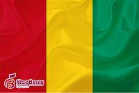 Флаг Гвинеи 80*120 см.,флажная сетка.,2-х сторонняя печать