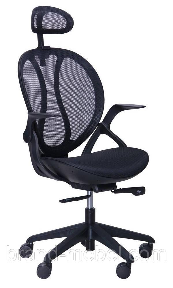 """Кресло Lotus HR черный (сетка черная) - Интернет-магазин """"Brand-mebel"""" в Львовской области"""
