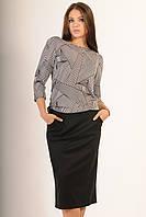 Женский повседневный костюм юбка и блуза .