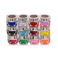 Набор цветных витражных гелей DIAMOND цена за 12 штук (SG-001-012)