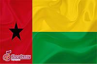 Флаг Гвинея-Бисау 80*120 см., искуственный шелк